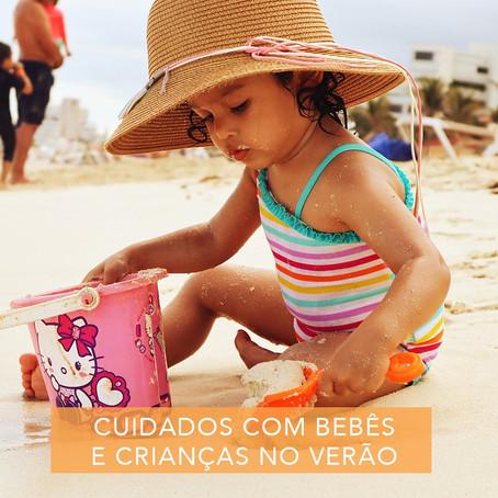 cuidados com as crianças e bebes no verão