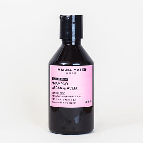 Shampoo Argan e Aveia - Cabelos secos - Sem Sulfato