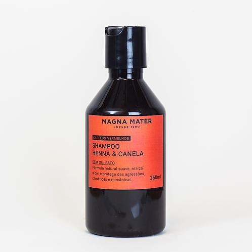 Shampoo Henna e Canela - Cabelos vermelhos - Sem sulfato