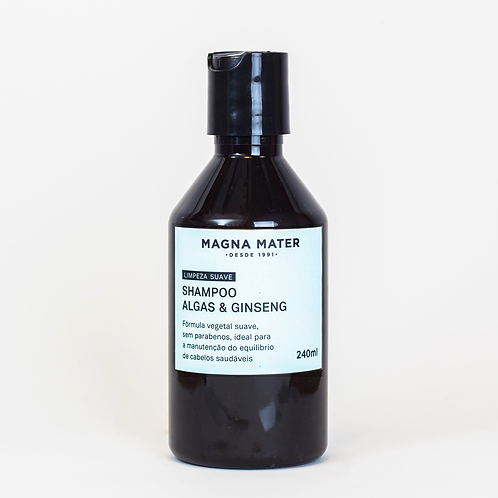 Shampoo Algas e Ginseng - Limpeza suave