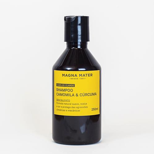 Shampoo Chamomilla e Cúrcuma - Cabelos claros - Sem sulfato