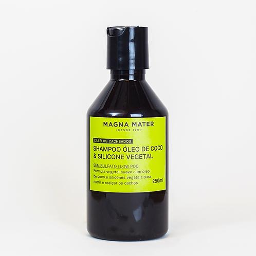 Shampoo Óleo de Coco e Silicone Vegetal - Cabelos cacheados - Sem Sulfato