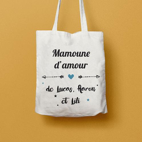 """Tote bag personnalisable """"Flèche et coeur"""" - CLASSIC"""