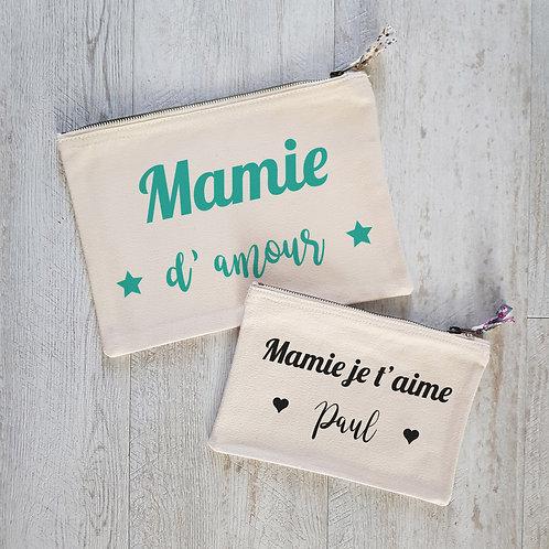 pochette personnalisée maman, mamie, fête des mère, fête des grand-mères