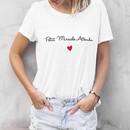 T-shirt femme personnalisé petit miracle attendu