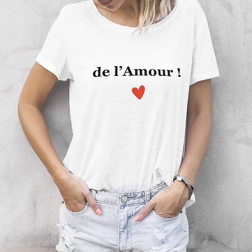 T-shirt femme personnalisé de l'amour cadeau personnalisé saint valentin