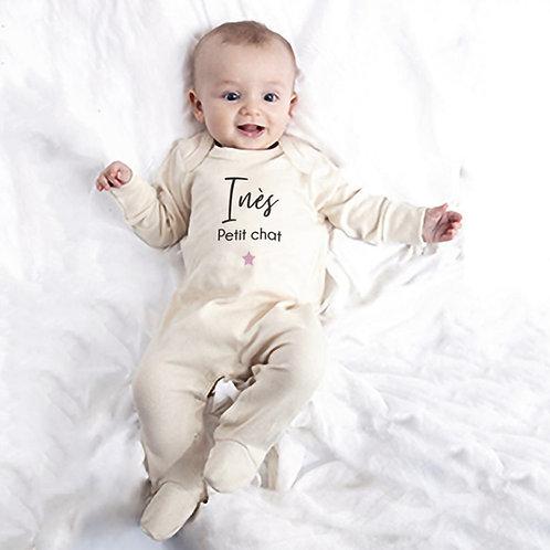Pyjama bébé personnalisé, barboteuse bébé personnalisée