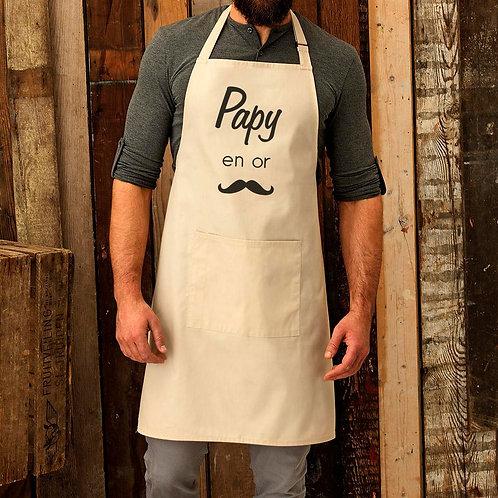 Tablier de cuisine personnalisé papa papi papy