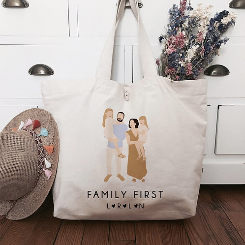 cabas sac personnalisé family first famille