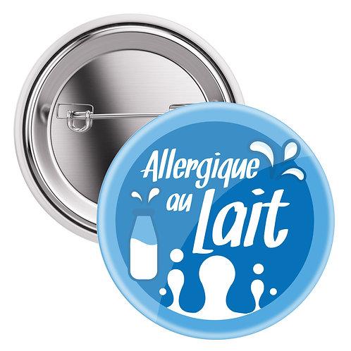 """Badge sac à dos / Sac à langer """"Allergique au lait"""""""