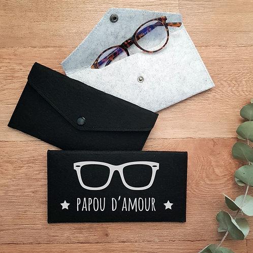Etui à lunettes personnalisé