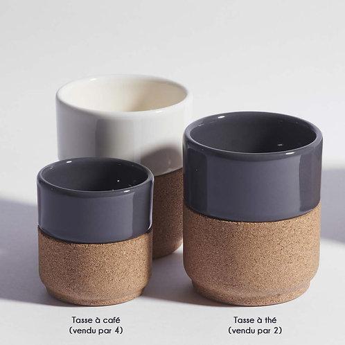 tasses à café céramique et liège