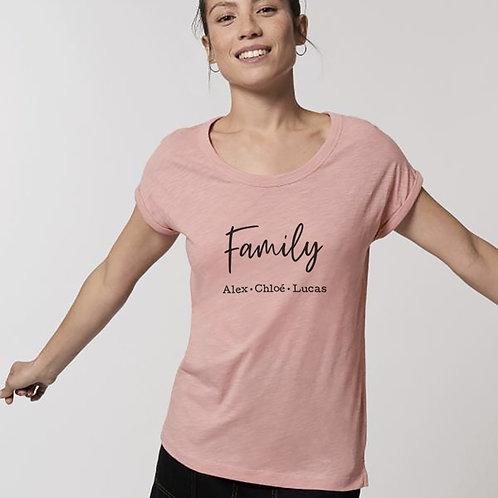 T-shirt femme family personnalisé