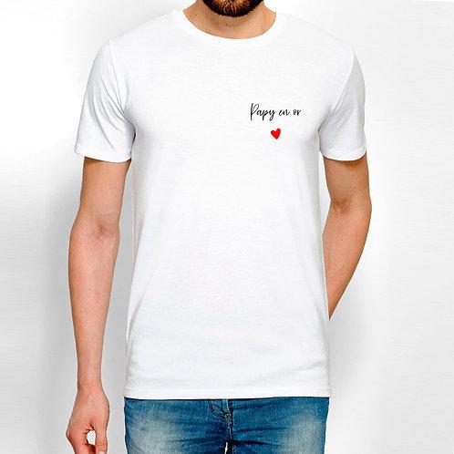 T-shirt homme papa papi papy personnalisé
