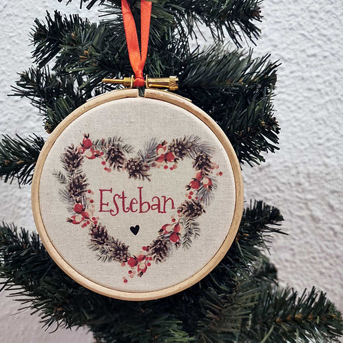 Suspension pour sapin de Noël personnalisée prénom