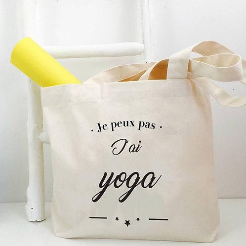 Tote bag XL - The Big Bag - Yoga - by Luz et Nina