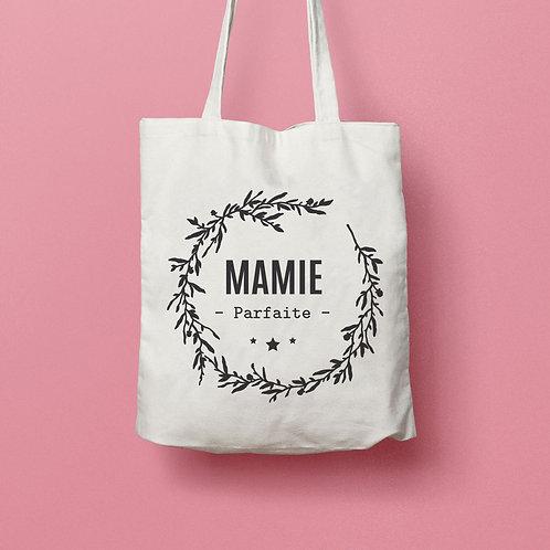 tote bag mamie, fête des grand-mère, fête des mères, cadeau mamie, super mamie, sac personnalisé,  luz et nina