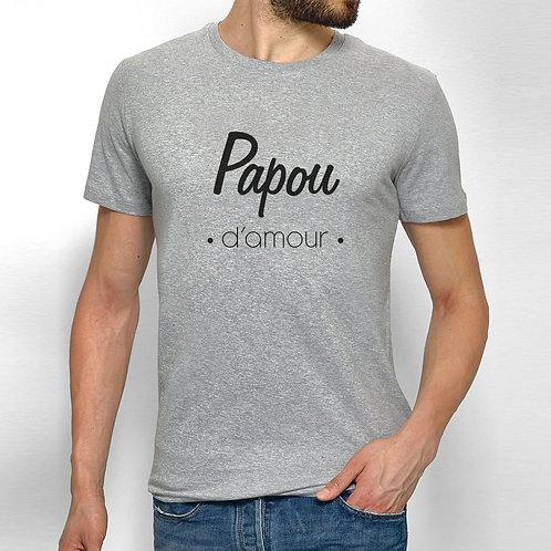 T-shirt personnalisé papou d'amour, cadeau personnalisé Luz et Nina