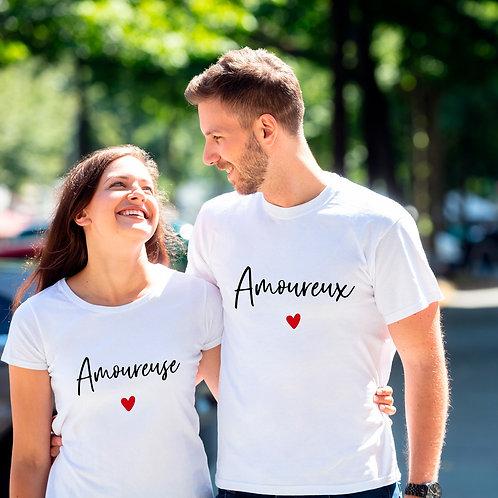 T-shirt femme personnalisé amoureuse cadeau personnalisé saint valentin