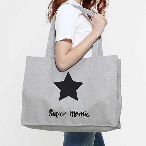 sac personnalisé, cabas un amour de maman, cadeau maîtresse, cadeau maman, sac de plage, luz et nina