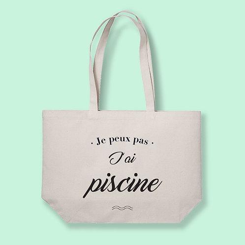 Tote Bag XL The big Bag - Je peux pas, j'ai Piscine - by Luz et Nina