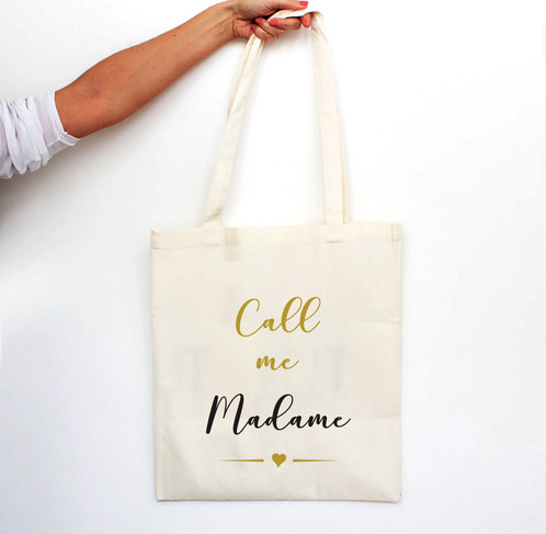 "Connu Tote bag ""Call me Madame"" - CLASSIC | Luz & Nina, création d  ML63"