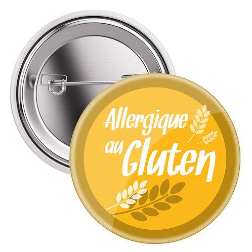 "Badge sac à dos / Sac à langer ""Allergique au gluten"""
