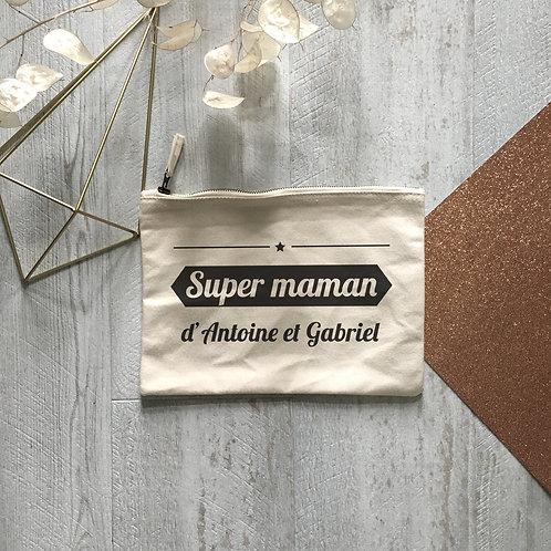 pochette personnalisée super maman