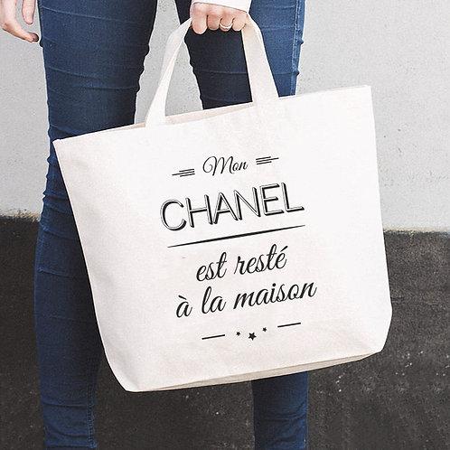 Tote bag the big bag Mon Chanel est resté à la maison