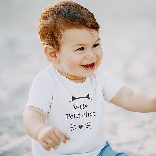 """T-shirt BÉBÉ """"Petit chat"""""""