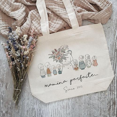 Tote bag personnalisé fête des grands-mères mamie