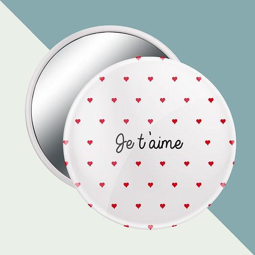 miroir saint valentin, badge personnalisé, luz et nina