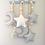 Suspension décorative chambre enfant lune et étoile