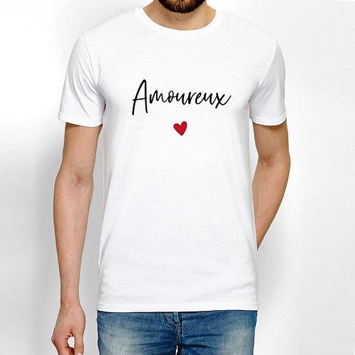 T-shirt homme amoureux cadeau personnalisé saint valentin