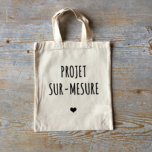 "Tote bag ""MINI"" - sur-mesure"
