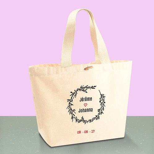 Sac cabas en coton BIO - EVJF - Mariage -  sac de plage - by Luz et Nina