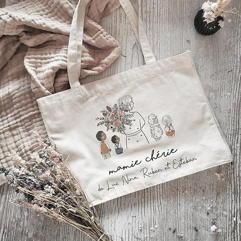 Cabas sac personnalisé fête des grands-mères mamie