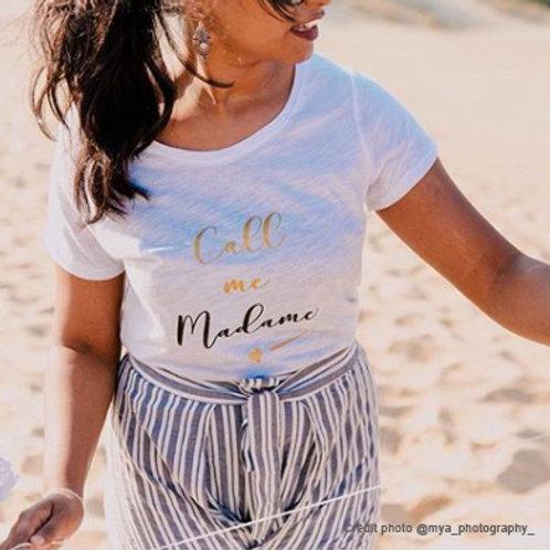 T-shirt Call me Madame, t-shirt EVJF