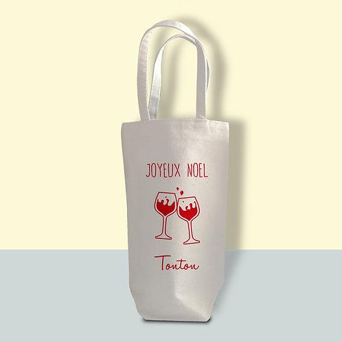 """Porte-bouteille en coton personnalisé""""Tchin"""""""