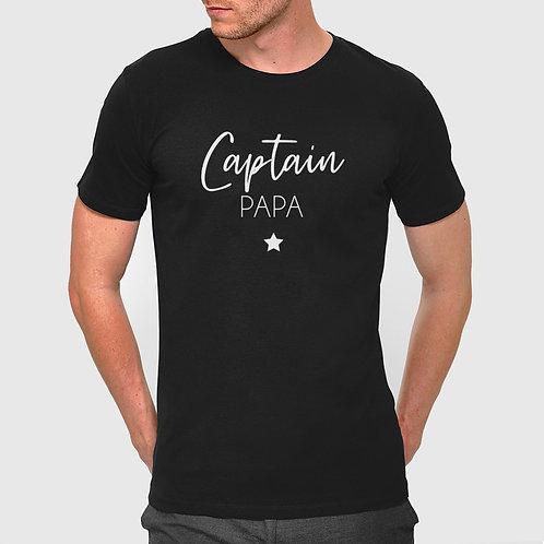 """T-shirt HOMME """"Captain Papa"""" #2"""