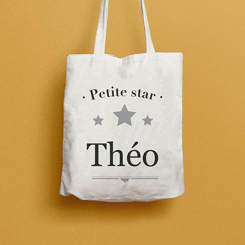 Tote bag  personnalisé Petite star, sac personnalisé