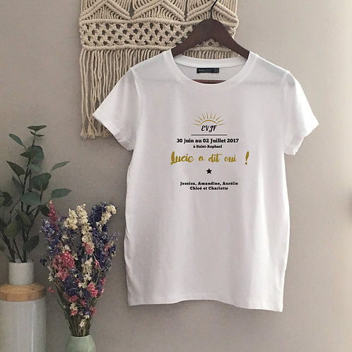 T-shirt femme EVJF - by Luz & Nina