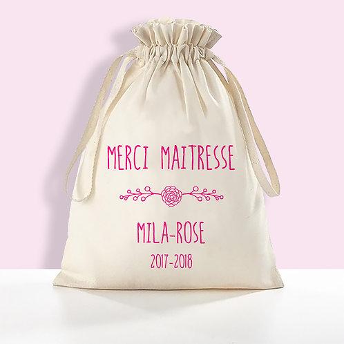 pochon personnalisé, sac de rangement personnalisé, cadeau fêtes de mère, cadeau maîtresse