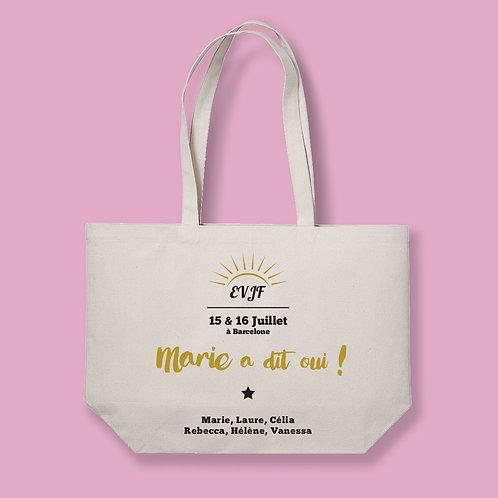 Tote Bag XL The Big Bag - EVJF - Mariage - by Luz et Nina