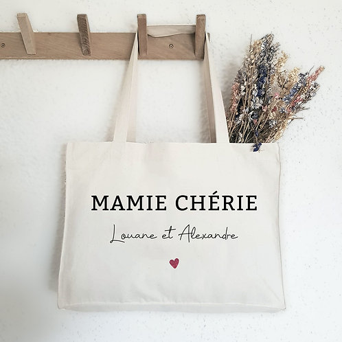 sac cabas personnalisé cadeau fête des grands-mère fête des mères