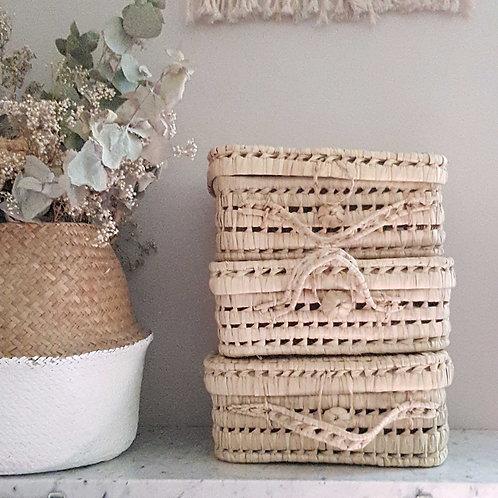 Valisette en feuille de palmier traditionelle marocaine