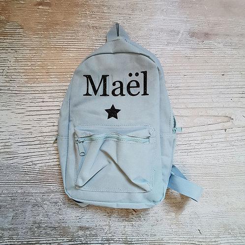 """Sac à dos enfant Maternelle personnalisé """"Maël"""""""