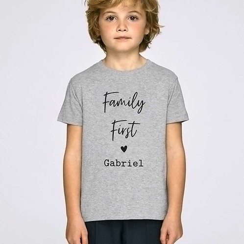 T-shirt enfant personnalisable Family First