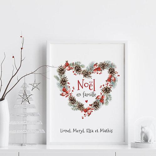 """Affiche """"Noël en famille"""""""