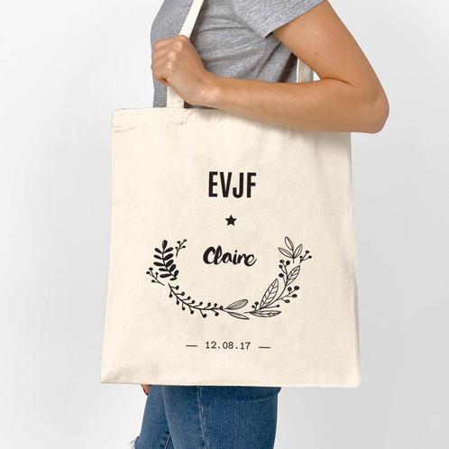 "Connu Tote bag ""Fleuri"" - Mariage // EVJF - CLASSIC | Luz & Nina  ML63"